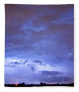 Big Sky With Small Lightning Strikes In The Distance Fleece Blanket