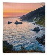 Big Sur Evening Fleece Blanket