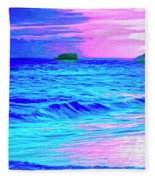 Big Sur Sunset Fleece Blanket