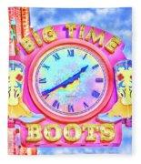 Big Time Boots - Nashville Hot Pink Fleece Blanket