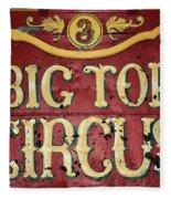 Big Top Circus Fleece Blanket