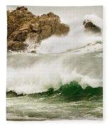 Big Waves Comin In Fleece Blanket