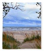 Big Waves On Lake Michigan 2.0 Fleece Blanket