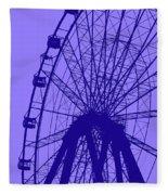 Big Wheel Blue Fleece Blanket