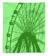 Big Wheel Green Fleece Blanket