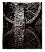 Big Wheel In Bw Fleece Blanket