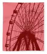 Big Wheel Red Fleece Blanket