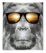 Bigfoot In Shades Fleece Blanket