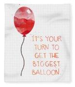 Biggest Balloon- Card Fleece Blanket