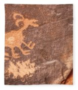 Bighorn Petroglyph Fleece Blanket