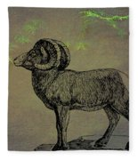 Bighorn Sheep  Fleece Blanket