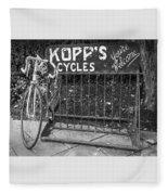 Bike At Kopp's Cycles Shop In Princeton Fleece Blanket
