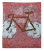 Bike-cloud Red - Da Fleece Blanket