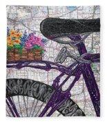 Bike Like #2 Fleece Blanket