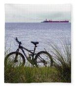 Bike On The Bay Fleece Blanket