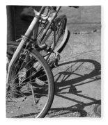 Bike Shadow Fleece Blanket