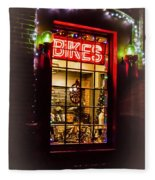 Bike Shop Window Fleece Blanket