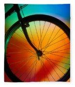 Bike Silhouette Fleece Blanket