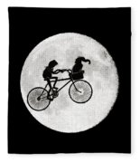 Biker Of The Moon Fleece Blanket