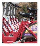 Bikes For Rent Fleece Blanket