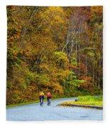 Biking On The Parkway Fleece Blanket