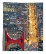 Bilbao Street Fleece Blanket