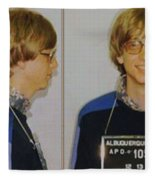 Bill Gates Mug Shot Horizontal Color Fleece Blanket