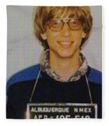 Bill Gates Mug Shot Vertical Color Fleece Blanket