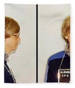 Bill Gates Post Impressionist Mugshot Fleece Blanket