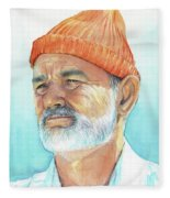 Bill Murray Steve Zissou Life Aquatic Fleece Blanket