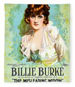 Billie Burke In The Misleading Widow 1919 Fleece Blanket