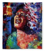 Billie Holiday Live Fleece Blanket