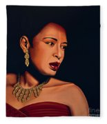 Billie Holiday Fleece Blanket