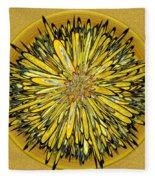 Billy Jean -- Floral Disk Fleece Blanket