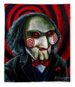 Billy The Puppet Fleece Blanket