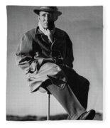 Bing Crosby Pebble Beach Bw Fleece Blanket