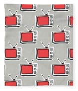 Binge Watching- Art By Linda Woods Fleece Blanket