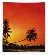 Bintan Island Sunset Fleece Blanket