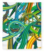 Bipolar Mania Rollercoaster Abstract Fleece Blanket