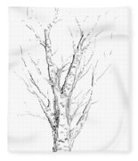 Birch Abstraction Study Fleece Blanket