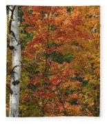 Birch And Maple Fleece Blanket