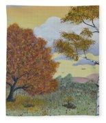 Birch And Oak Frienship Fleece Blanket