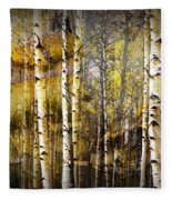 Birch Bark And Trees Abstract Fleece Blanket