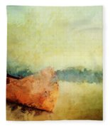 Birch Bark Canoe At Rest Fleece Blanket