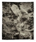 Birch Bark Detail Monotone Img_6361 Fleece Blanket