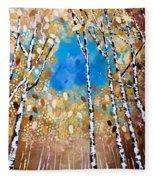 Birch Forest Fleece Blanket