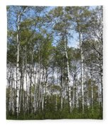 Birch Forest Fleece Blanket