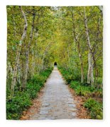 Birch Pathway Perspective Fleece Blanket
