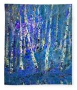 Birch Trees 3 Fleece Blanket