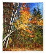 Birch Trees - Autumn Fleece Blanket